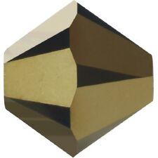 720 PEZZI Bicono Mc Crystal mm 4 Jet Gold Bronze
