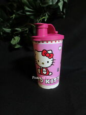 Tupperware New Cute HELLO KITTY Pink White Big Bell Tumbler Pink Fliptop Seal