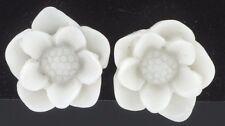 Sunflower post stud earrings plastic white flower earring kitsch lightweight