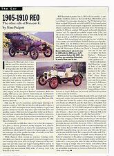 1905 1910 REO Car Print Article J322