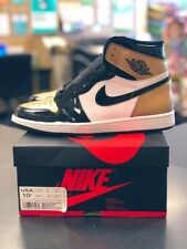 Nike Air Jordan 1s retro high NRG Patent Gold Toe 100% Authectic size 10.5 New
