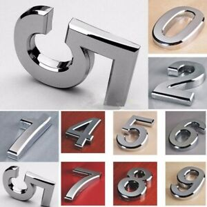 Modern House Numbers Plaque Number Digits Sticker Plate Sign Numeral Door Letter