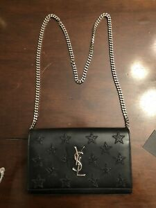 YSL Saint laurent Wallet/Clutch  On Chain Black Leather Crossbody WORN ONCE !!!
