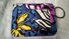 Vera Bradley African Violet Small Card Wallet Purple Blue Floral Quilted Retired