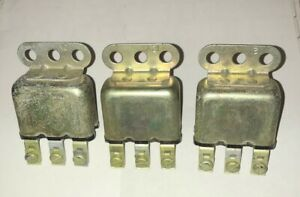 Early 12V GM Chevrolet Buick Oldsmobile Horn relays. lot of 3