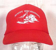 vtg 80s retro Scott Excavating Snapback Trucker Hat Cap Punk Indie land mover