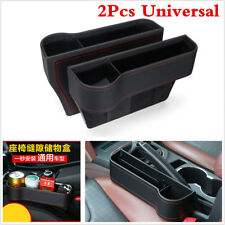 PU Leather 2Pcs Storage Box Car Organizer Seat Side Gap Debris Case Cup Holder