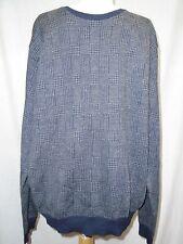 Polo Ralph Lauren Sweater Sz XL Wool Alpaca Navy Blue Gray Houndstooth Crew Neck