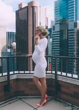 Ingrid & Isabel Lace Long Sleeve Maternity Dress Ivory Large (12-14) NEW