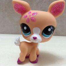 Littlest Pet Shop # 2113 pink glitter deer blue eyes - SHIPS FREE 9 pictures