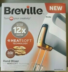 Breville vfm021 Heatsoft 240w 7 Speed Hand Mixer New