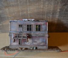 HO Scale Custom Built Hand Painted Watch Control Storage Building LED