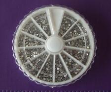 Clear rhinestone wheel 1.200 rhinestones,diamonte crystals nail art manicure