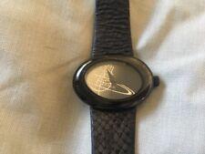 Genuine Quality VIVIENE WESTWOOD Orb Watch Black Working Used No Box