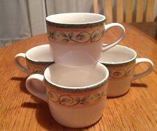Pfaltzgraff French Quarter Coffee Cups -Set of 4 EUC
