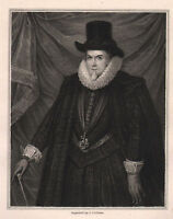 1835 Georgianisch Aufdruck ~ Thomas Cecil First Earl Von Exeter