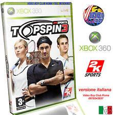 TOP SPIN 3 TENNIS XBOX 360 NUOVO ITALIANO @@@ X360 ITA