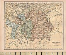C1880 Victorien Carte ~ Empire de Allemagne Sud Portion
