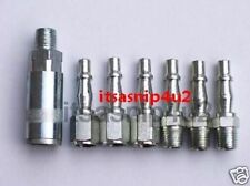 "7pc BSP 1/4"" male coupler fittings,for air tools,line,m/f conectors value set"