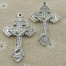 Free Ship 100 pieces tibetan silver cross pendant 56x34mm #564