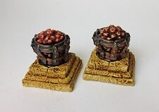 Braziers with hot coals, resin model, for  Roleplaying and Wargames