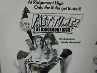 FAST TIMES AT RIDGEMONT HIGH Movie Mini Ad Sheet VTG Advertising Poster Film