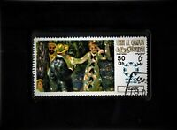 Framed Stamp Art -  Collectible Postage Stamp Renoir's The Swing