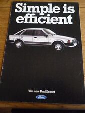 FORD ESCORT L, GL, GHIA AND XR3 + ESTATE CAR SALES BROCHURE AUG.1980 FOR 1981