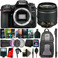 Nikon D7500 20.9MP DSLR Camera + 18-55mm Lens + Monopod & Accessory Kit