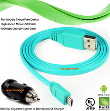 Smooth Portable Micro USB Fast Charger Flat Data Sync Cable For Android Phones