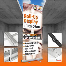 ROLL UP DISPLAY inkl. DRUCK 100x200cm * Banner * inklusive TASCHE Rollup Banner
