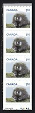 2013 Canada SC# 2605 Baby Wildlife Porcupine starter strip of 4 Lot# C489 M-NH