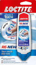 New White Loctite Kitchen & Bath Re-New Caulk 3.3 Oz Tube Silicone Sealant Tube