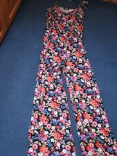 GEORGE~ SIZE 8-12~ FLORAL FLOWER JUMPSUIT~ FESTIVAL~ NEW~PALAZZO~HOLIDAY~PRETTY