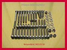 MZ125 SX SM Schrauben Edelstahlschrauben Schraubensatz Motor + Verkleidung MZ125