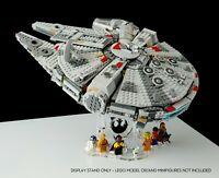 Display stand angled BK-(20°) for Lego 75257-75212-75105-4504 Millennium Falcon