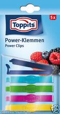 4x Toppits Power-Klemmen 5 stk. Gefrierclips (Gefriersicher bis -40°C)