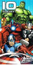 AVENGERS ASSEMBLE 10 TODAY ! 10TH BIRTHDAY CARD NEW GIFT MARVEL