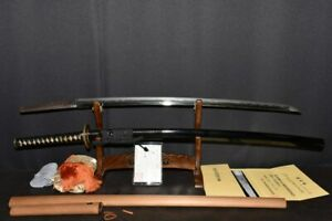 (BA-21) Old Long Blade 75.5cm (29.7inch) NAGAHIRO sign with NBTHK Judgment paper
