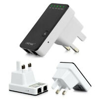 Wireless N 802.11 Router Signal Extender Booster 300Mbps Wireless Wifi  UK Plug
