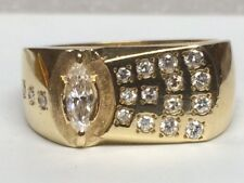 Gents 14kt yellow gold diamond mounting (OG547)