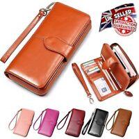 Women Ladies Leather Wallet Long Zip Purse Card Holder Case Phone Clutch Handbag