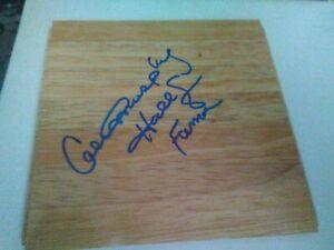 Calvin Murphy Autographed Signed 6x6 Floor Board HOF NBA ABA Houston Rockets