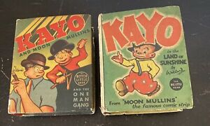 1937 Kayo in the Land of Sunshine 1939 One Man Gang Big Little Book Moon Mullins