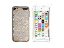 iPod Touch 5, Touch 6 - Coque souple + 1 film verre trempé (Rosace Blanche)