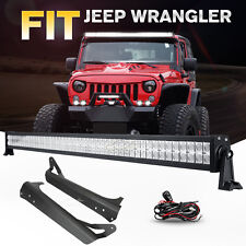 52Inch 700W LED Light Bar+Mounting Bracket Fit for Jeep Wrangler TJ 1997-2006 50