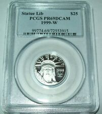 1999-W American Platinum Eagle PR69DCAM $25 1/4 oz Statue of Liberty PCGS Proof