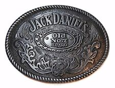 JACK DANIELS Classic Old No. 7 Brand OVAL Pewter BELT BUCKLE