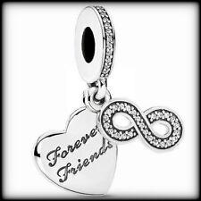Genuine PANDORA S925 ALE Forever Friends Pendant Charm Silver 791948CZ RRP £50