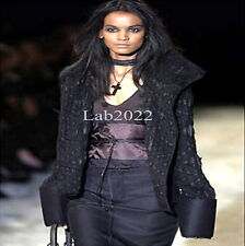 """Gucci Tom Ford Exit 23 F/W 02 """"Antique"""" Technique Jacket + Leather Obi"""